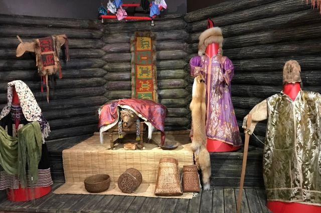 Экспозиция, посвященная Медвежьим игрищам в Музее природы и человека