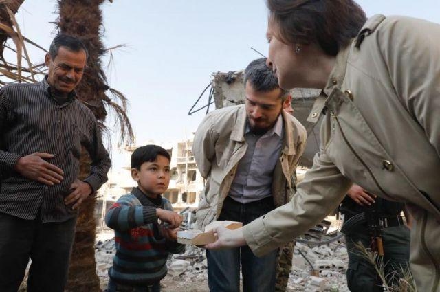 Наталья Комарова в Сирии
