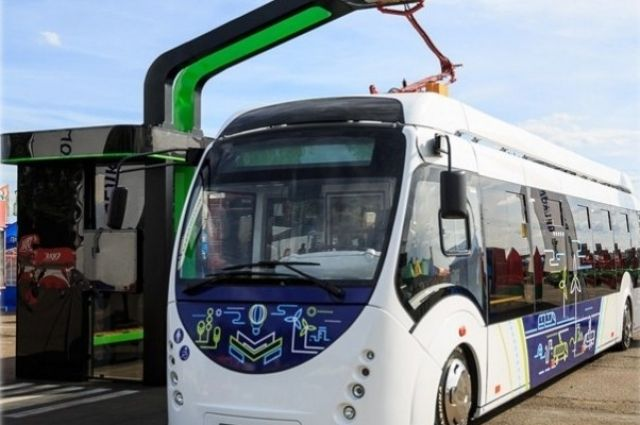 Электробус может перевозить одновременно 85 человек.