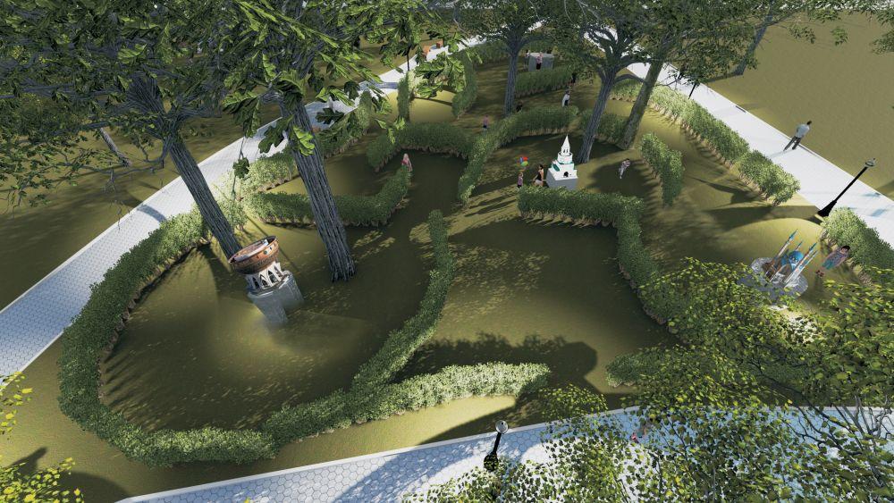 """Парк миниатюр в парке """"Крылья Советов""""."""