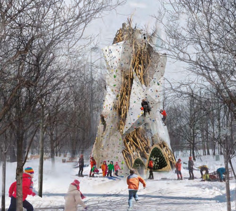 Скалодром в Горкинско-Ометьевском лесу.