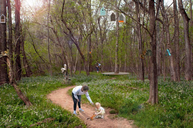 Парк на ул. Комарова - тихая зона