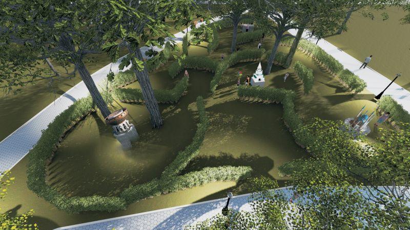 Парк миниатюр в парке
