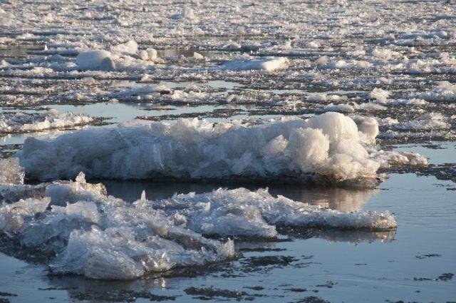 В районе Мысков в Томи понизился уровень воды.