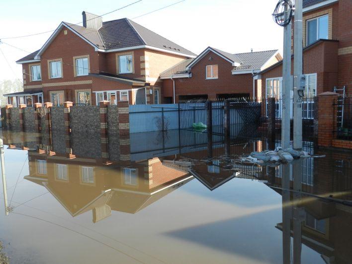 В селе Зубово подтопило многие дома.