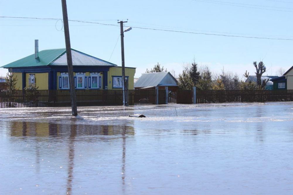 Река Чермасан в Чекмагушевском районе подтопила деревню Новоюмраново.