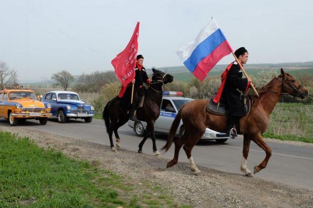 Участники автопробега «Эх, путь-дорожка фронтовая» побывали вКочубеевском районе