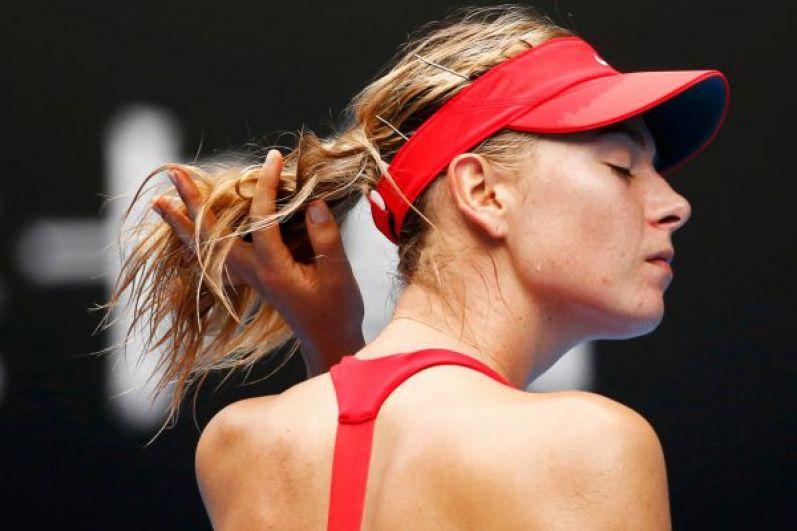 Шарапова на турнире Australian Open. 2015 год.