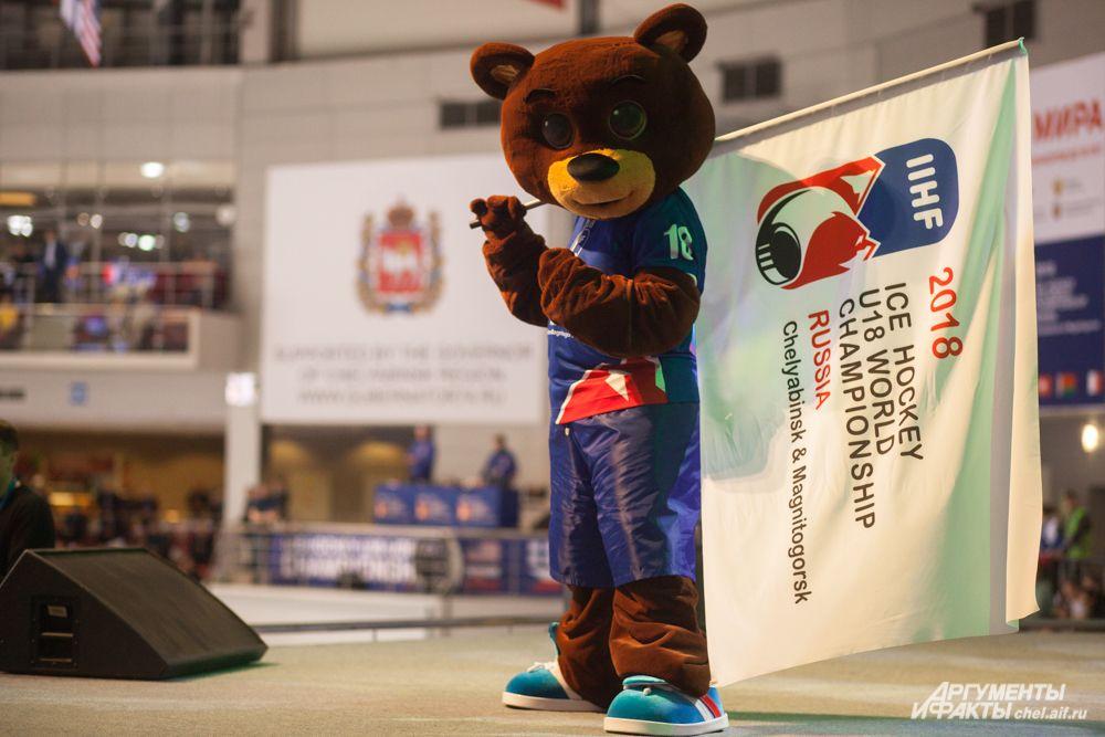 Талисман соревнований - медвежонок Уралец