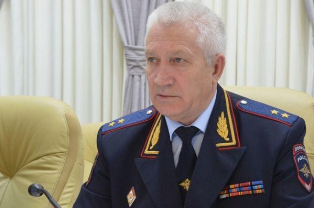Генерал-лейтенанта полиции Виктор Кошелев на сегодняшней коллегии в ГУ МВД.