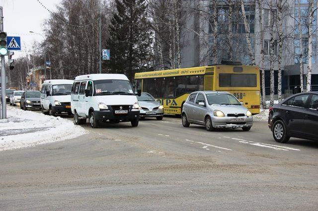 Улица Калинина в Ханты-Мансийске