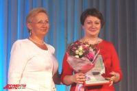 Наталии Шагулиной вручили серебряный нагрудный знак Уполномоченного по правам ребёнка.