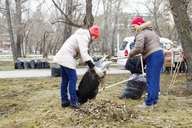 Горожане совместными усилиями делают город чистым.