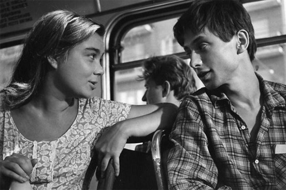 Нина Дорошина в фильме «Первый троллейбус», 1963 г.