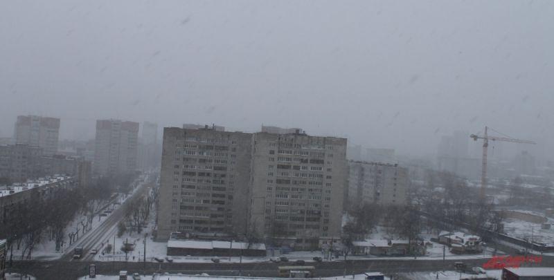 Снегопад над Пермью