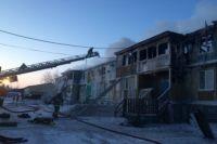 Дом поврежден на площади ориентировочно 600 кв.м.