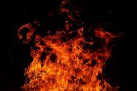 Дом полностью сгорел.