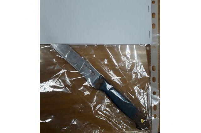 Женщина, вооружившись ножом, отправилась за ним.