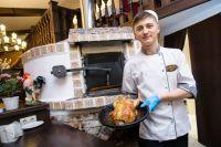 Курица, фаршированная яйцом - одно из лакомств татар.