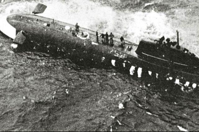 Советская АПЛ К-8 навеки осталась лежать на глубине 4789 метров в Бискайском заливе Атлантического океана. Фото из архива поисковой группы.