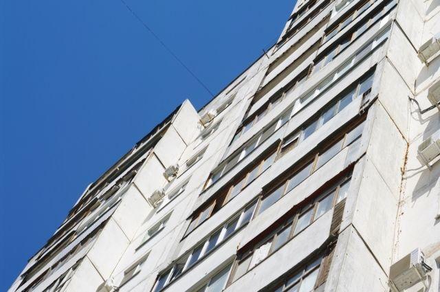 Очевидцы утверждают, что щенка выбросили из окна квартиры на 13 этаже.