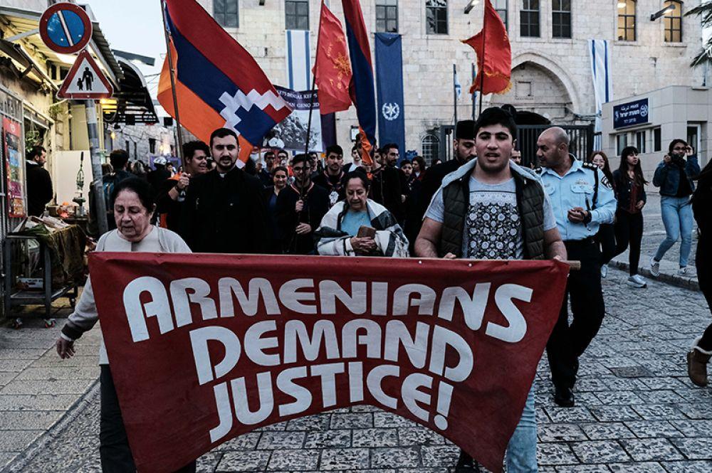 Марш армян в Иерусалиме.