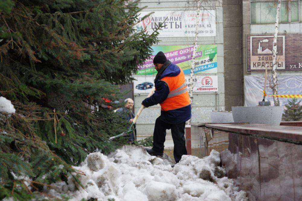 Снежным сугробам не оставляли шансов на выживание.