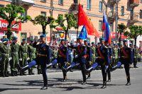 9 мая на Красной Площади будет играть военный духовой оркестр.
