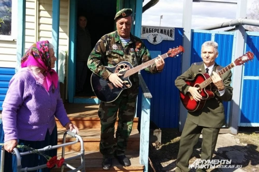 Поздравление ветеранов в пос. Березовка.