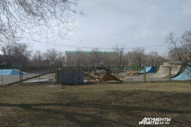 В Оренбурге закрыли единственную скейт-площадку.