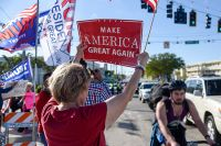 «Сделаем Америку снова великой!» — предвыборный лозунг Трампа.
