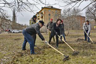 Мэр поучаствовала в общероссийском субботнике 21 апреля.