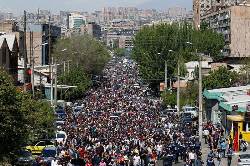 Митинг оппозиции в Ереване.