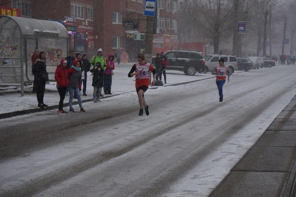 Общая длина дистанции, которую преодолели участники - 5,5 км.