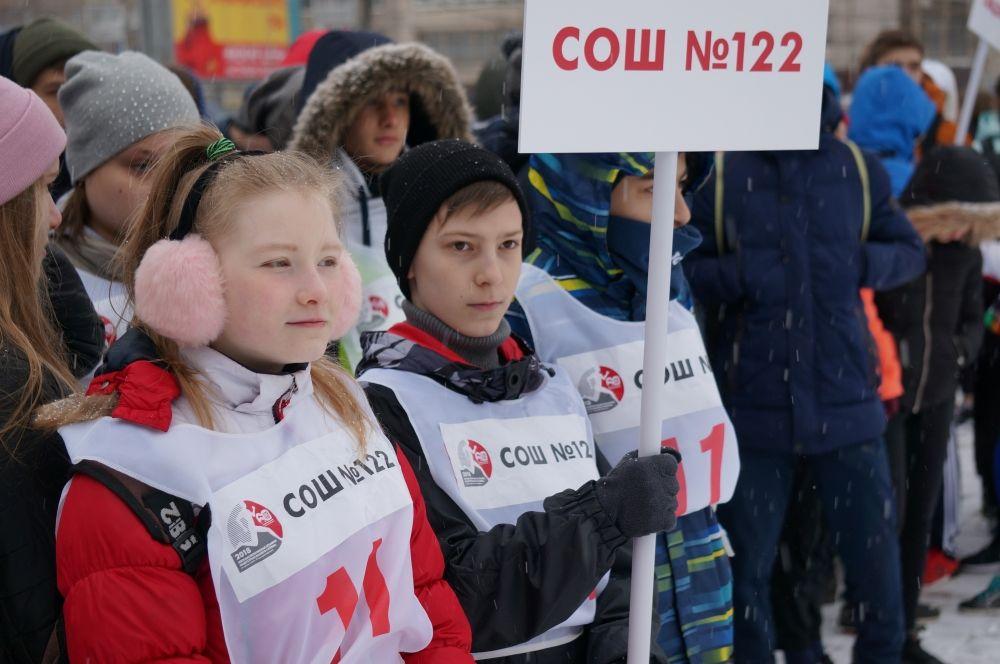 Участники эстафеты из школы № 122.