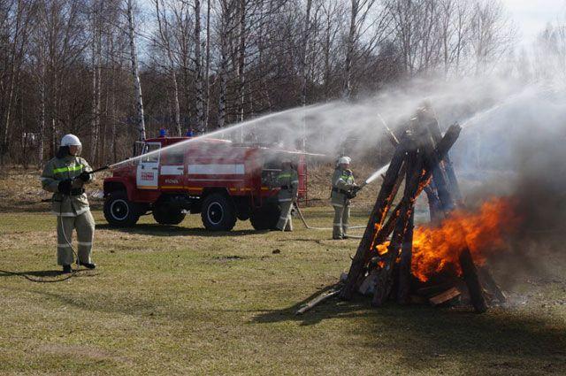 Специалисты «Лесной охраны» отработали навыки тушения лесных пожаров.
