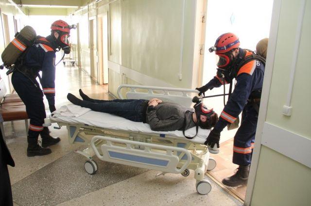 В ходе учений были эвакуированы пациенты
