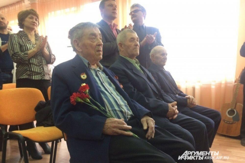 Поздравление ветеранов в поселке Богучаны.