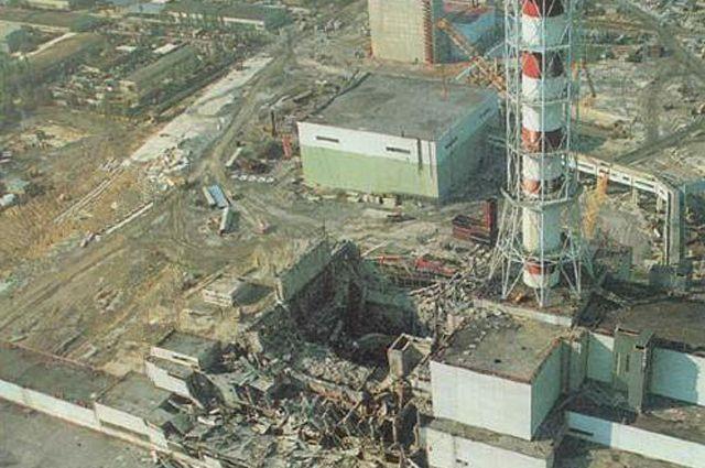 Тот самый 4-й энергоблок, разрушенный взрывом.