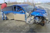 Под Кувандыком столкнулись Chevrolet и самосвал, пострадала пенсионерка.
