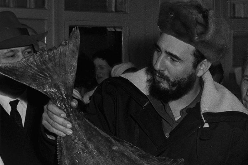 Визит Фиделя Кастро начался с города Мурманска. Посещение мурманского рыбокомбината.