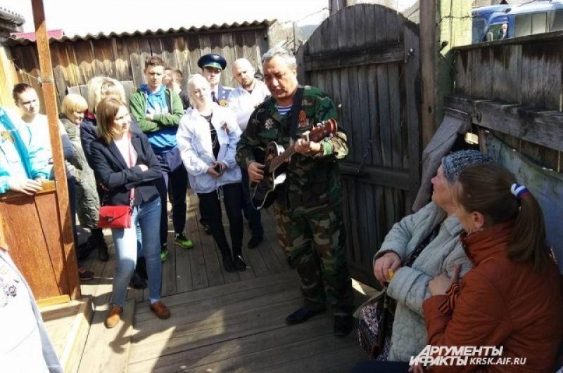 В гостях у жительницы блокадного Ленинграда.