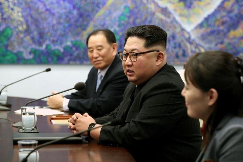 Ким Чен Ин общается с прессой, а также представителями Южной Кореи.