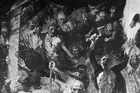 Картина «Восстание в Собиборе». Художник И.А. Солдатенков. 1967 г. Еврейский Центр Бостон, США. Фрагмент.