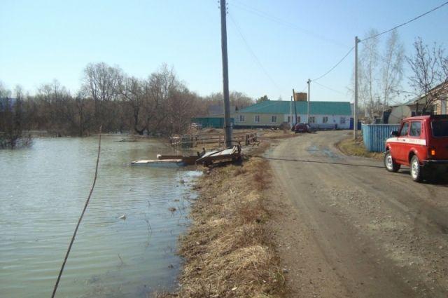 Из-за паводка затопило деревню в Тарском районе.