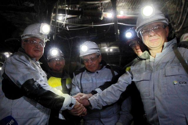 Врио губернатора Кемеровской области Сергей Цивилев спустился в шахту.