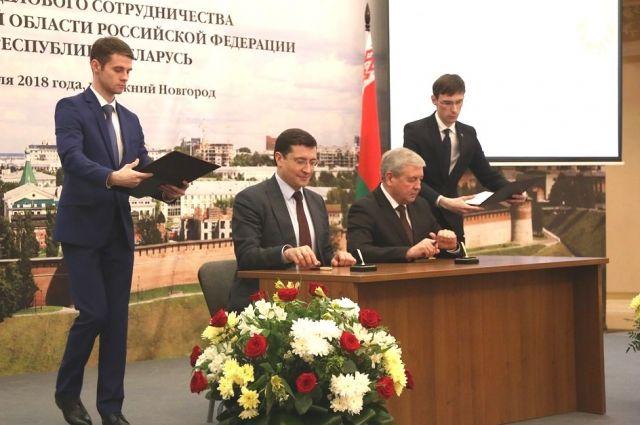 Глеб Никитин подписал план сотрудничества Нижегородской области с Республикой Беларусь на 2018 – 2020 годы.