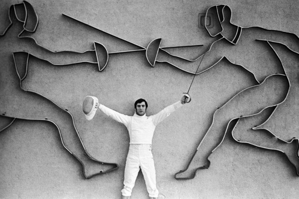 Двукратный олимпийский чемпион по фехтованию Виктор Кровопусков.