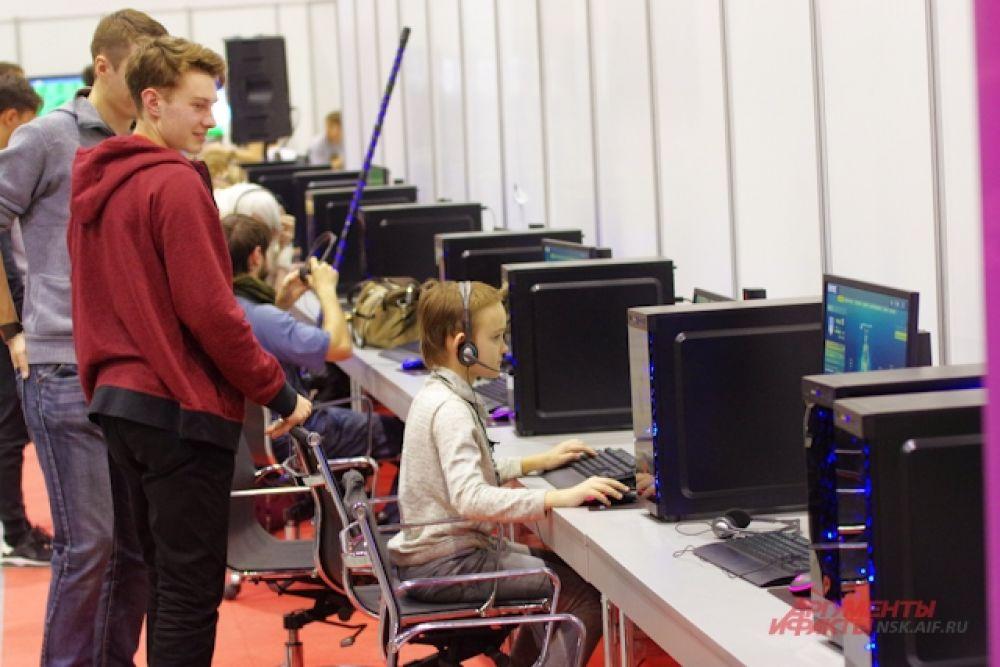 Разумеется,  было место и для компьютерных игр.