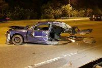 Ужасное ДТП в Киеве: авто разорвало на две части, водителя не могут найти